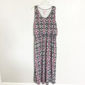 Magic Plus Size Maxi Dress 3X Black & Pink Summer